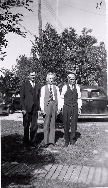 Sons Carl and Henry Batke with friend, Jacob Link
