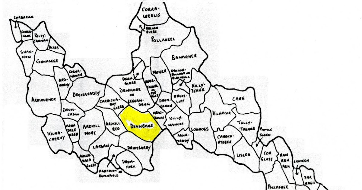 Sullivan/Corcoran Genealogy: Denn Parish Townland Map