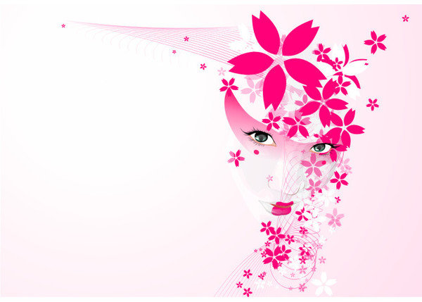 Pink And Flowers Abstract Wallpaper Here You Can See Or Picture Of