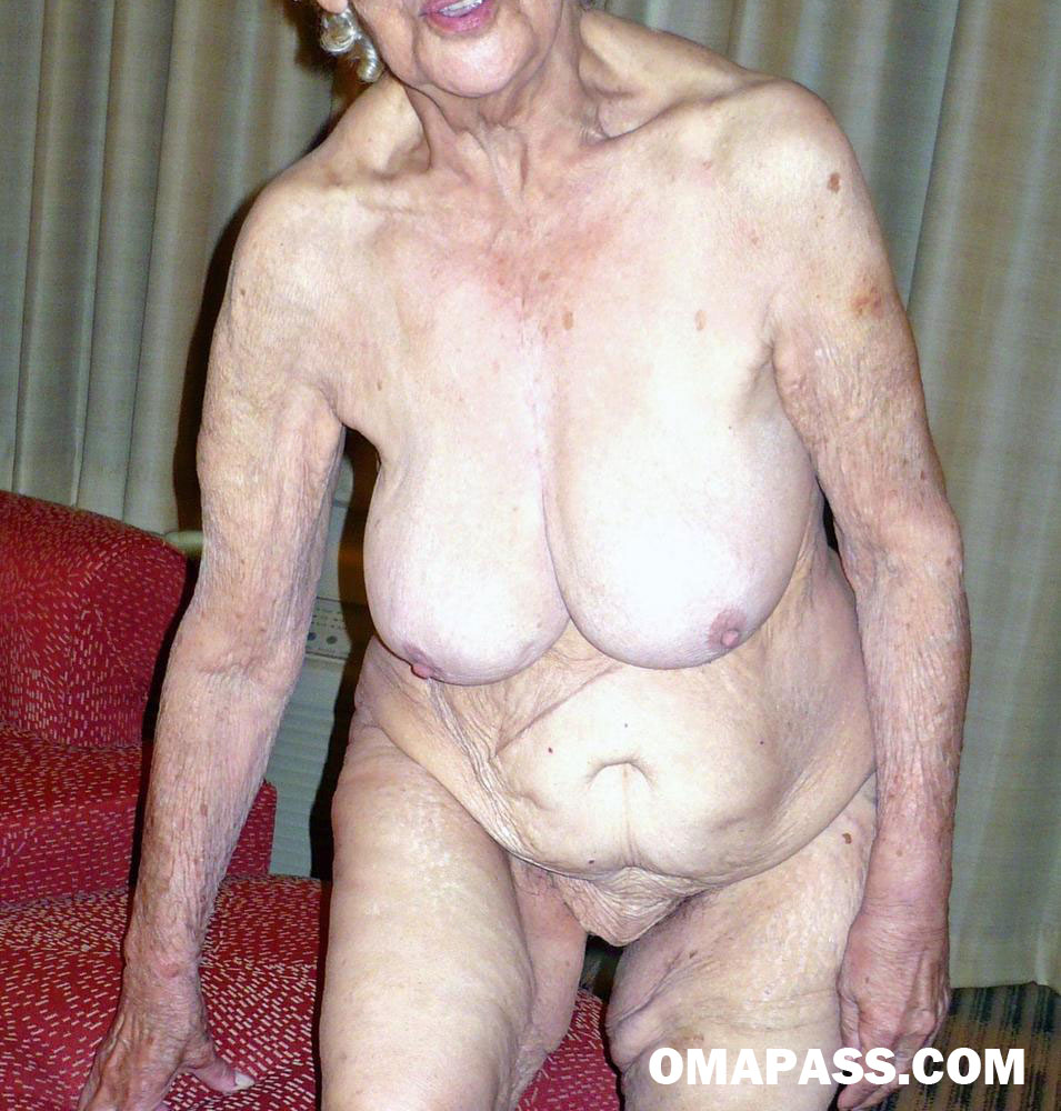 very old saggy granny