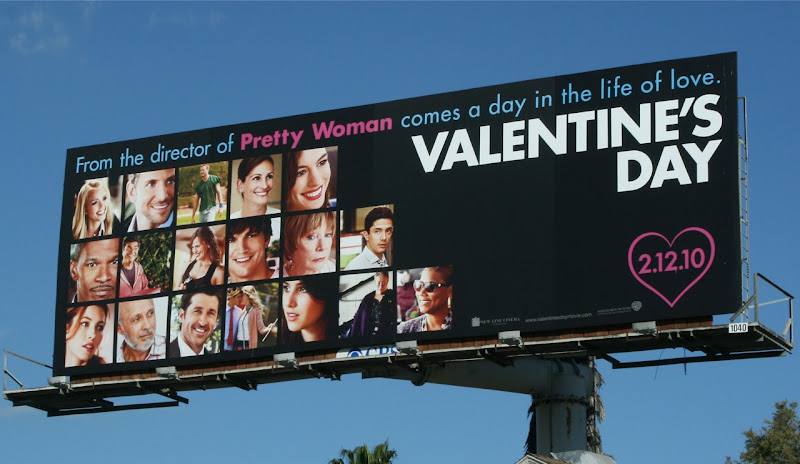 Valentine's Day film billboard