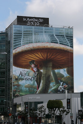Johnny Depp Alice in Wonderland billboard