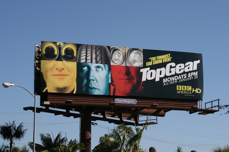 BBC America Top Gear TV billboard