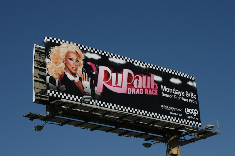 Ru Paul's Drag Race TV billboard
