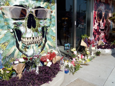 Alexander McQueen West Hollywood floral tributes