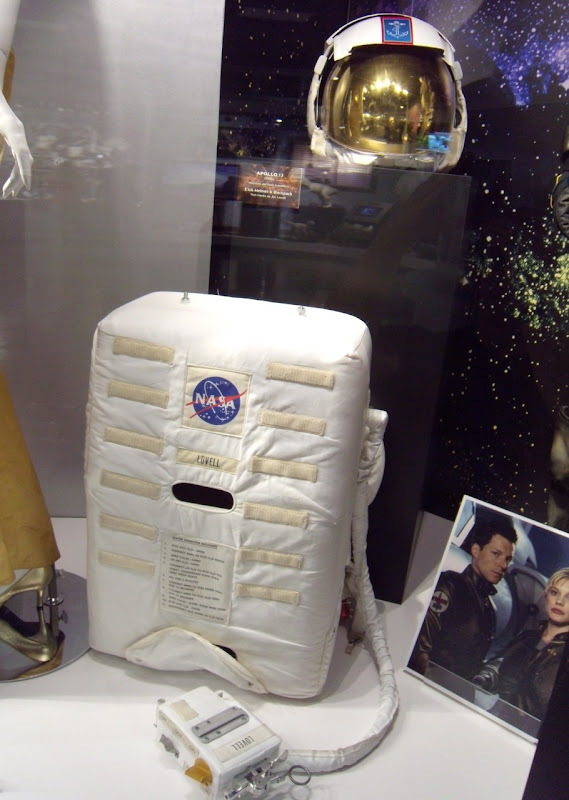 Apollo 13 EVA helmet and backpack movie props
