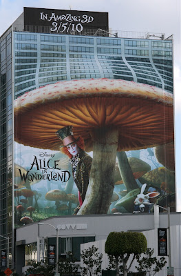 Alice in Wonderland movie teaser billboard