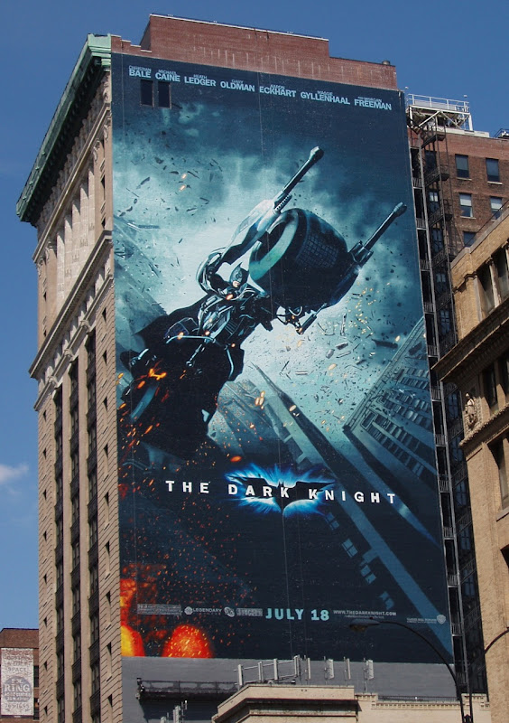 The Dark Knight movie billboard NYC