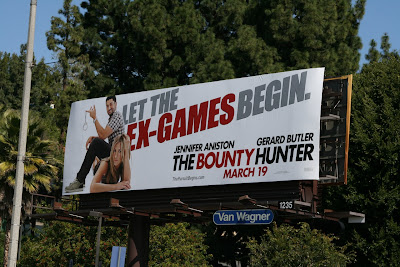 The Bounty Hunter movie billboard