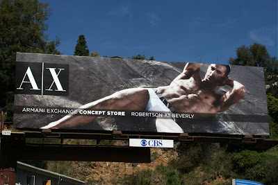 Hot male Armani underwear model billboard