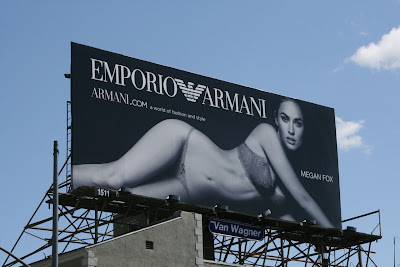 Megan Fox Armani billboard
