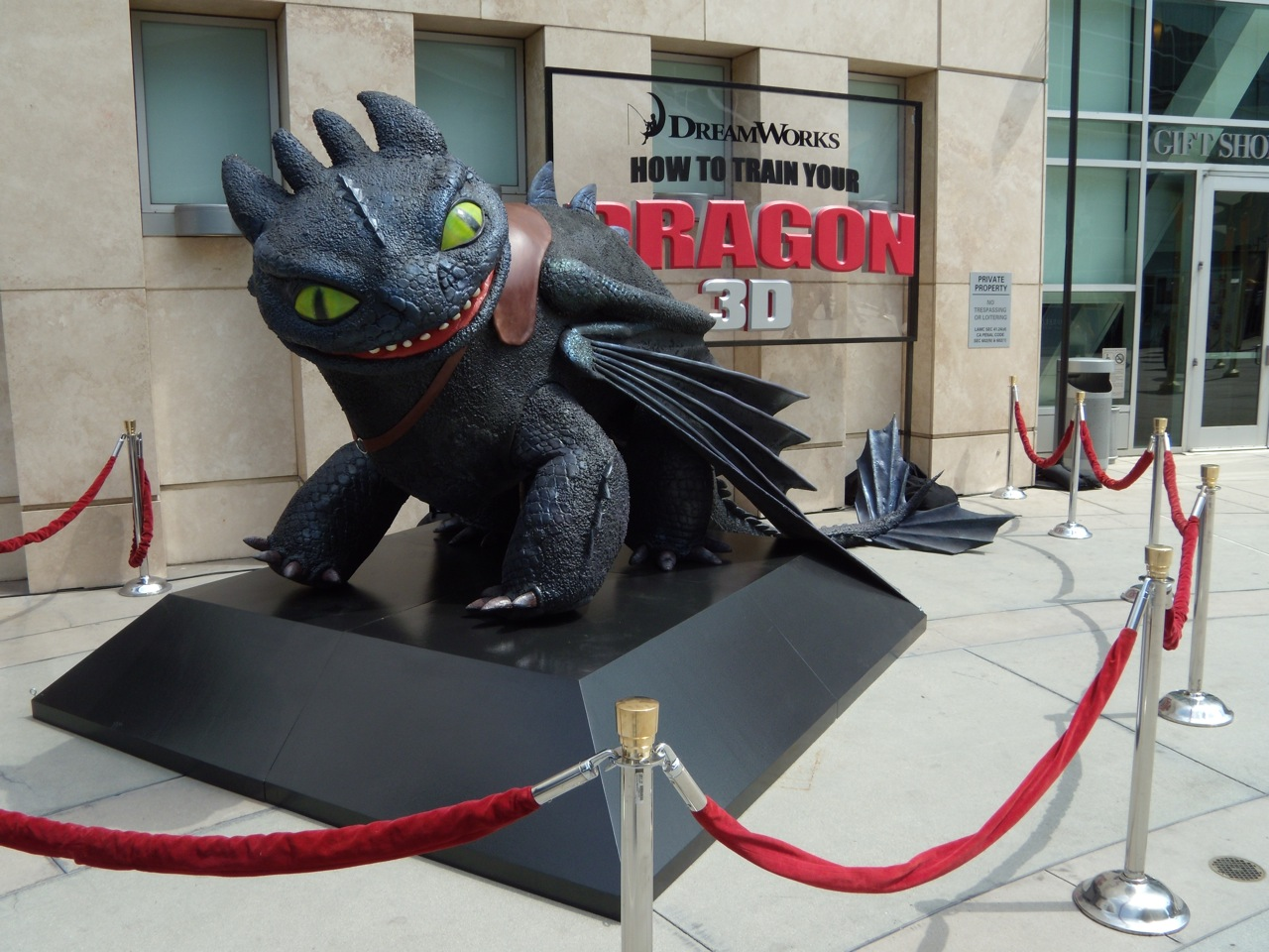 Hollywood movie costumes and props toothless night fury dragon from toothless from how to train your dragon ccuart Gallery