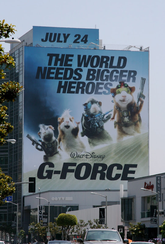 Disney G-Force movie billboard