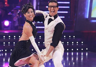 Kristi Yamaguchi & Mark Ballas dancing their way to a trophy win - the first ever American female celebrity winner of Dancing with the Stars.  Image courtesy of ABC