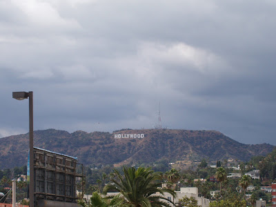 The Hollywood sign from the roof of The Home Depot, 5600 Sunset Blvd
