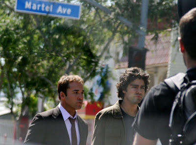 Adrian Grenier and Jeremy Piven from TV's Entourage celebrity sighting