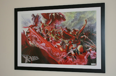 The Uncanny X-Men 500th issue framed poster by artist Alex Ross