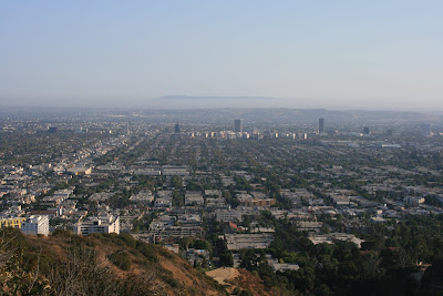 View of L.A. sprawl from Runyon Canyon walk