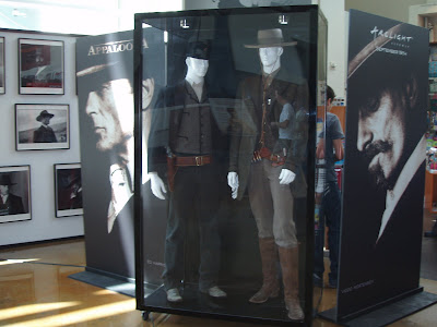 Appaloosa Movie costumes displayed at the Arclight Hollywood