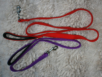 Red and purple comfort cushion leash
