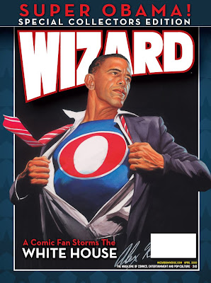Wizard Collectors Edition Alex Ross art Super Obama cover