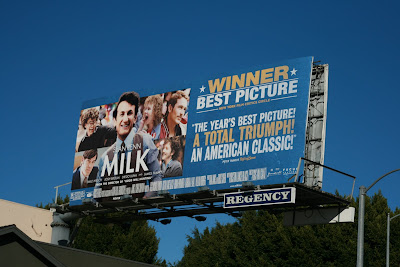 MILK movie billboard on Sunset Blvd