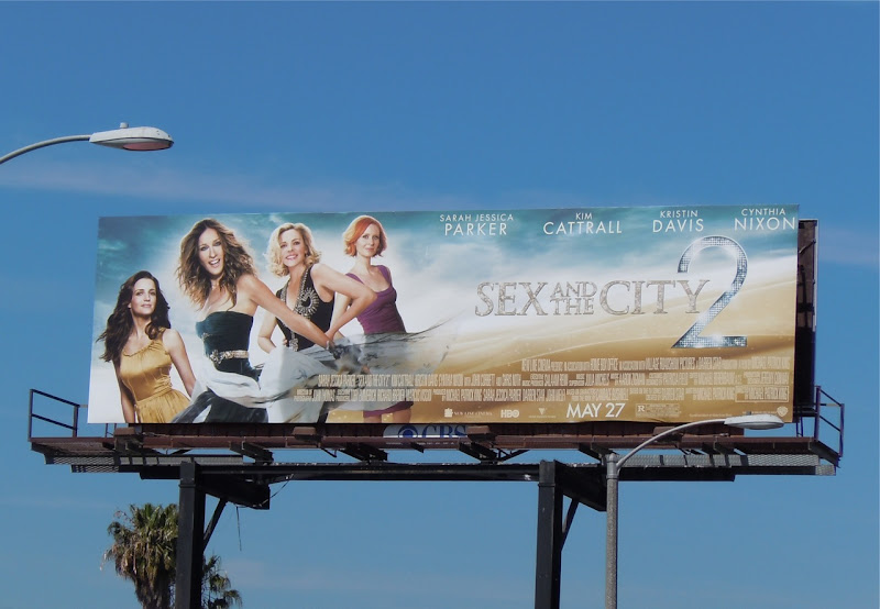 Sex and the City 2 ensemble movie billboard