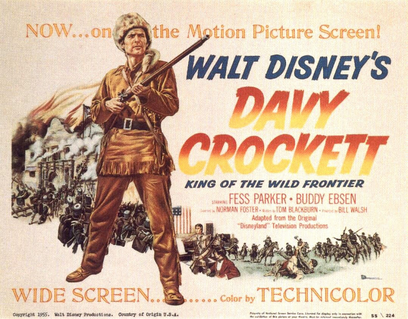 Disney's Davy Crockett movie poster