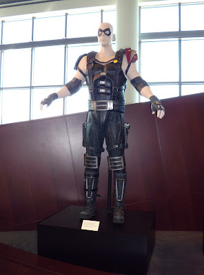 The Comedian Watchmen film costume on display