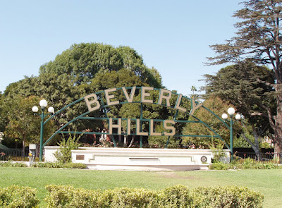 Beverly Hills Sign in Beverly Gardens Park
