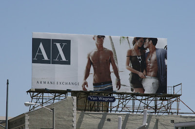 Hot male Armani Exchange model billboard