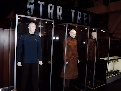 Star Trek movie costumes on display