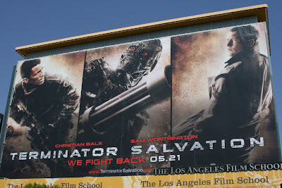 Christian Bale Terminator Salvation movie billboard