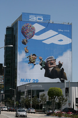 Disney Pixar's UP movie billboard