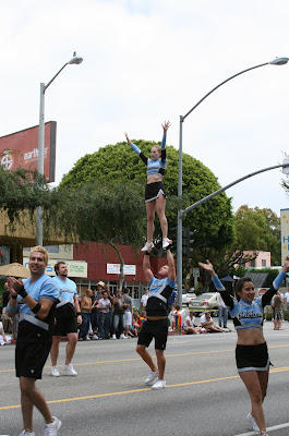 LA Cheer entertain crowds at WEHO Gay Pride Parade 09