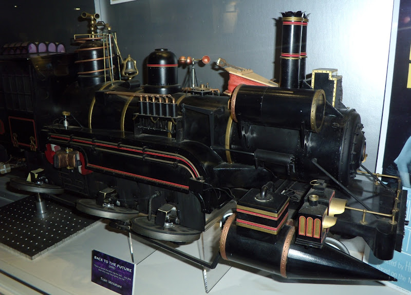 Steam train miniature movie prop from Back to the Future
