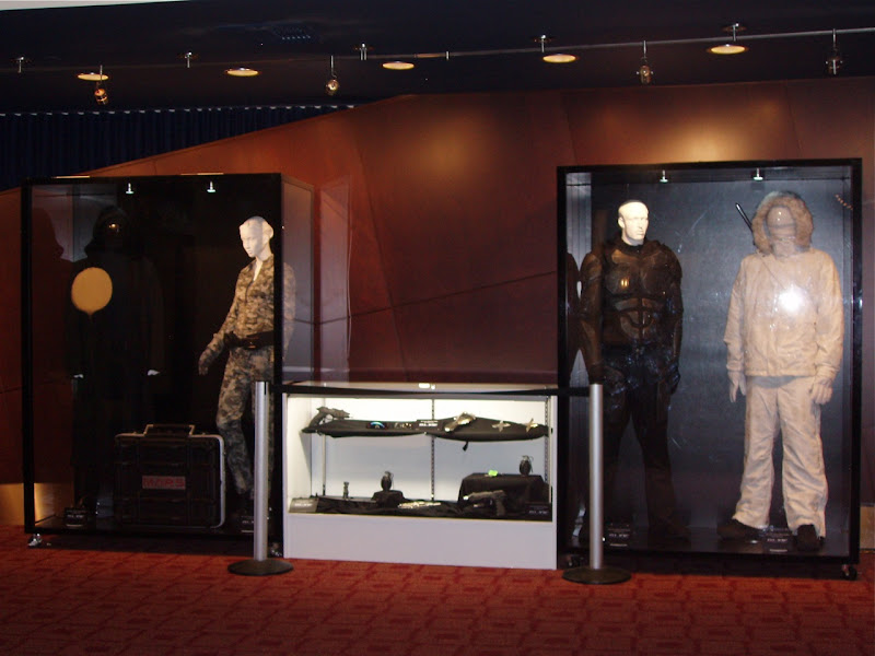 GI Joe movie costume and props display
