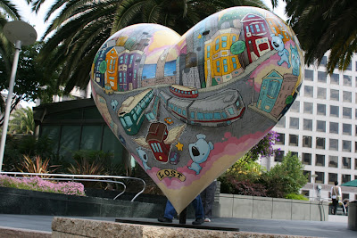 Sirron Norris Hearts of San Francisco sculpture