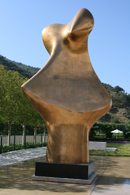 Henry Moore Bronze Form sculpture at The Getty Garden