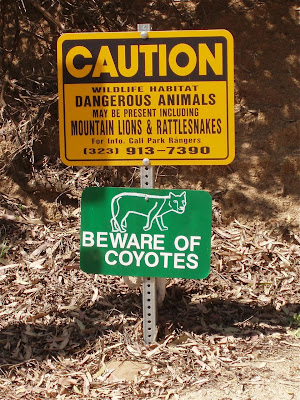 Beware of Coyotes sign
