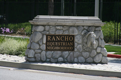 Burbank Rancho Equestrian neighbourhood sign