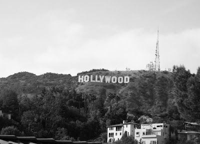 The Hollywood Sign in mono