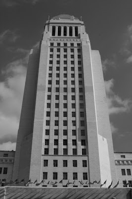City Hall in Downtown LA in mono