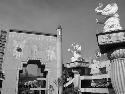 Hollywood and HIghland Center in mono