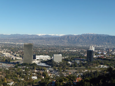 San Fernando Valley snow capped mountain view