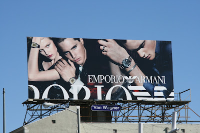 Emporio Armani watches billboard