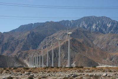 Wind turbines of Palm Springs