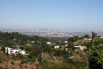 Downtown Los Angeles view from Bel Air