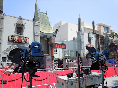 A-Team movie red carpet set-up