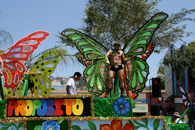 West Hollywood butterfly go-go boy Pride 2010